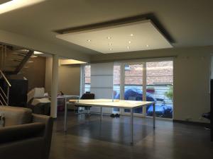 Pose de cloisons et faux plafonds namur et en brabant wallon - Faux plafond resille metallique ...